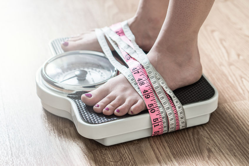 Anorexia and eating disorder concept